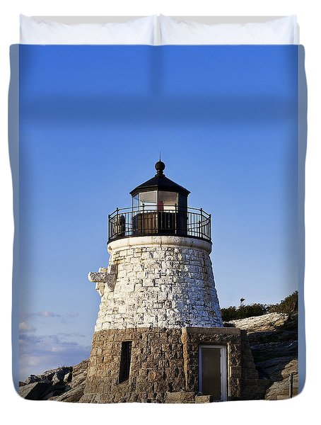 Castle Hill Lighthouse Duvet Cover by John Greim