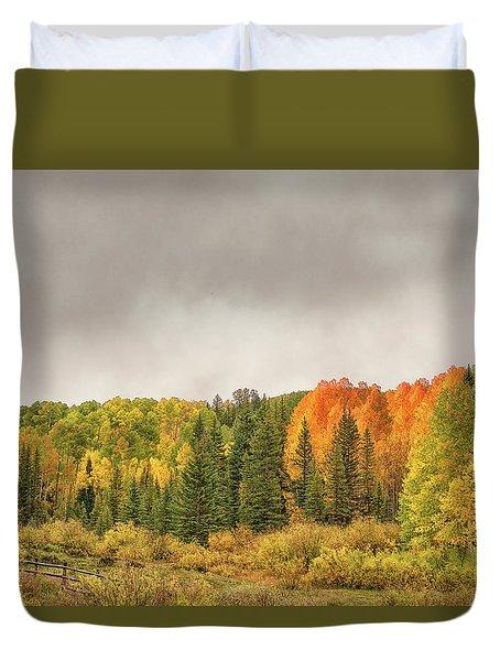 Colorado Fall Foliage 1 Duvet Cover