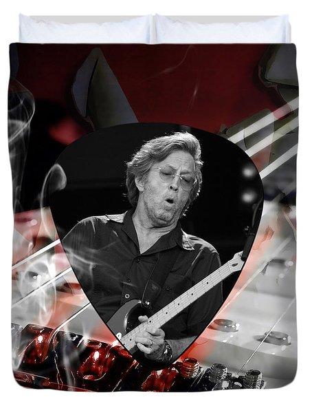 Eric Clapton Art Duvet Cover by Marvin Blaine