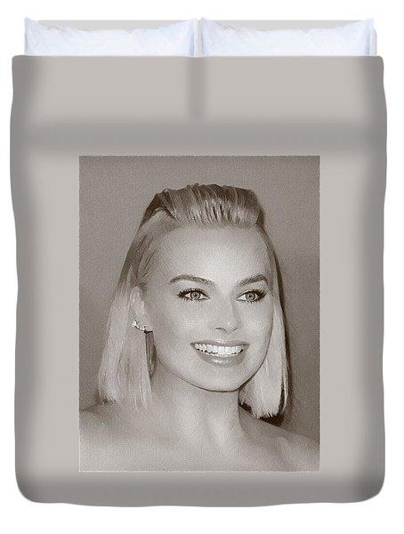 Hollywood Star Margot Robbie Duvet Cover