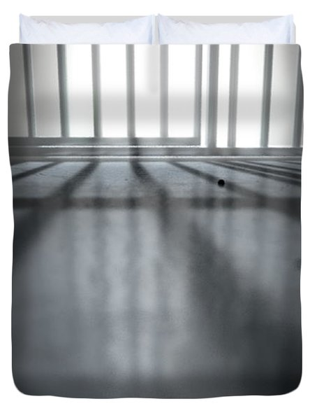 Jail Cell Shadows Duvet Cover
