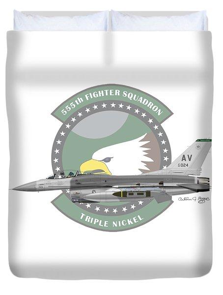 Lockheed Martin F-16c Viper Duvet Cover by Arthur Eggers