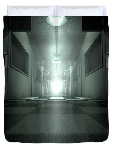 Mental Asylum Haunted Duvet Cover