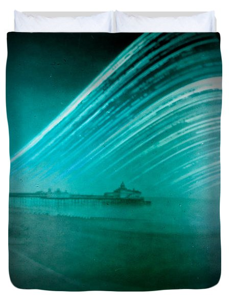 6 Month Exposure Of Eastbourne Pier Duvet Cover