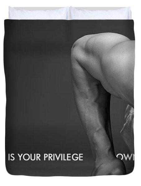 Motivational Duvet Cover