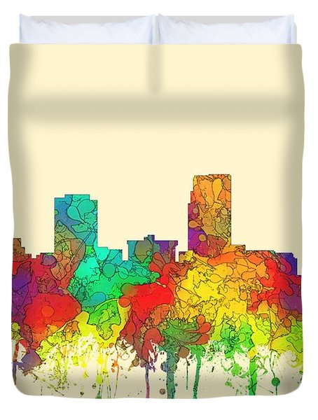 Omaha Nebraska Skyline Duvet Cover