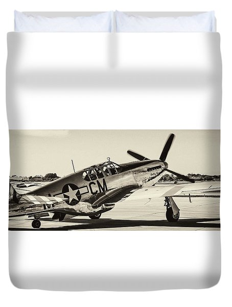 P51 Mustang Duvet Cover by Chris Smith