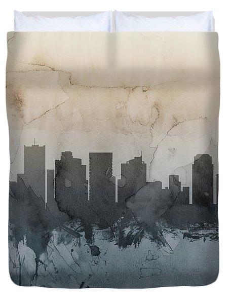 Phoenix Arizona Skyline Duvet Cover