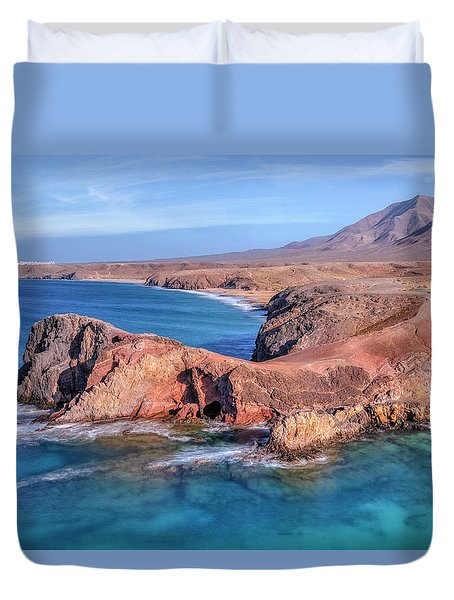 Playa Papagayo - Lanzarote Duvet Cover by Joana Kruse