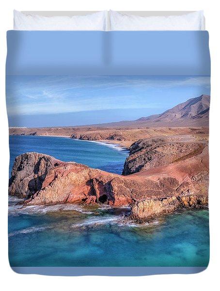 Playa Papagayo - Lanzarote Duvet Cover