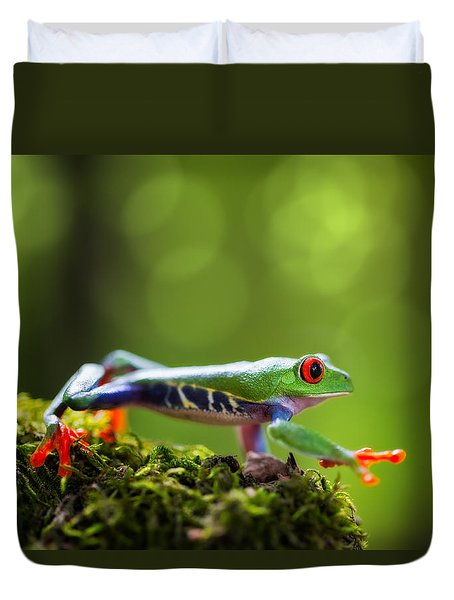 red eyed tree frog Costa Rica Duvet Cover