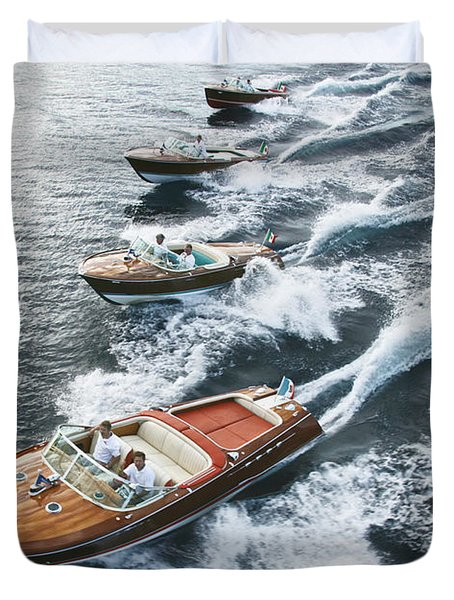 Riva Runabouts Duvet Cover