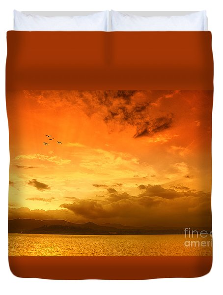 Sunset  Duvet Cover by Charuhas Images