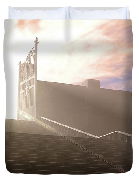 The Stairs To Heavens Gates Duvet Cover