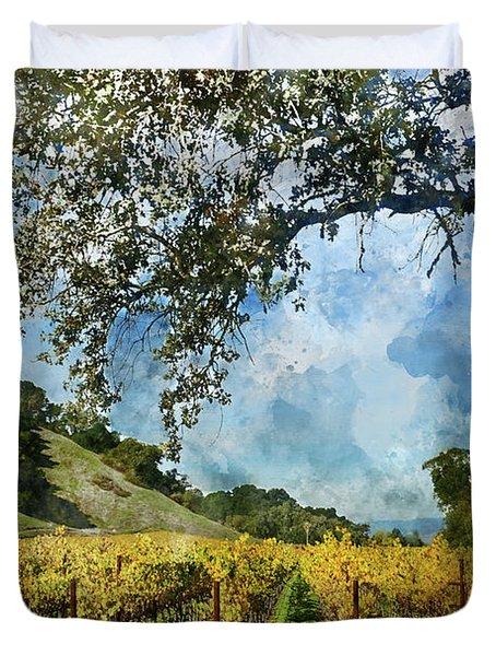Vineyard In Napa Valley California Duvet Cover