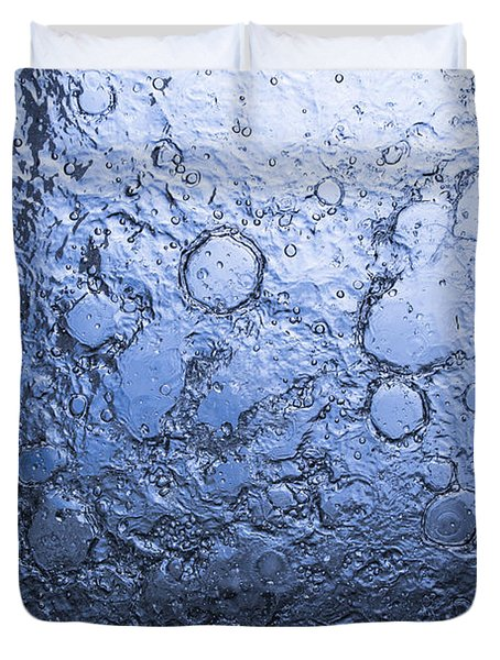 Water Abstraction - Blue Duvet Cover by Alex Potemkin