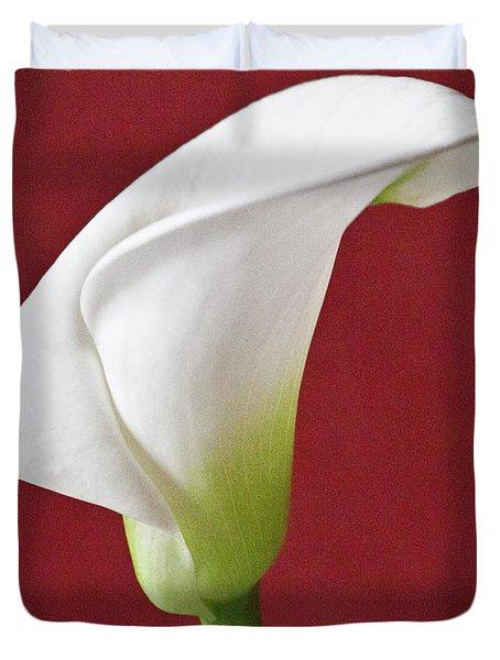 White Calla Duvet Cover