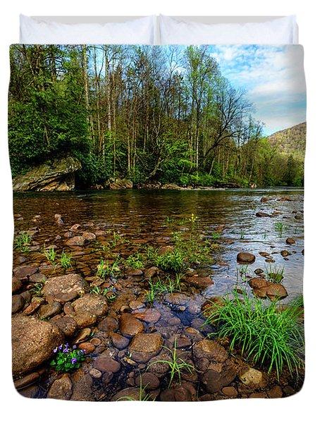 Williams River Spring Duvet Cover