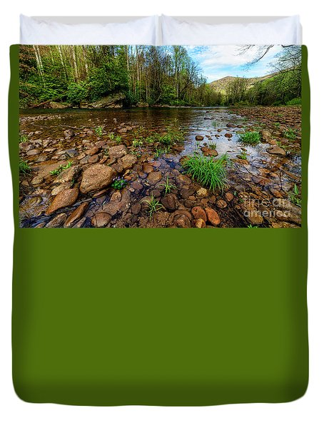 Williams River Spring Duvet Cover by Thomas R Fletcher