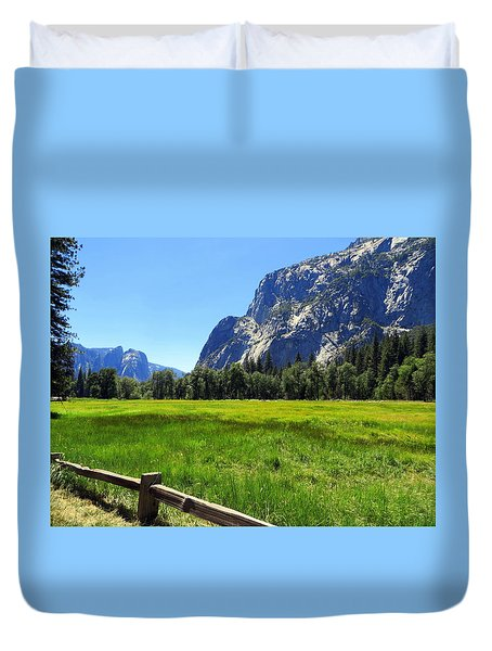 Yosemite Meadow Photograph Duvet Cover