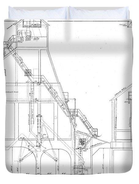 600 Ton Coaling Tower Plans Duvet Cover