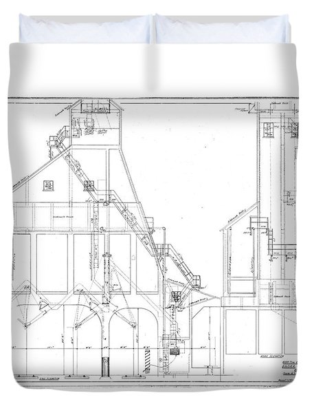 600 Ton Coaling Tower Plans Duvet Cover