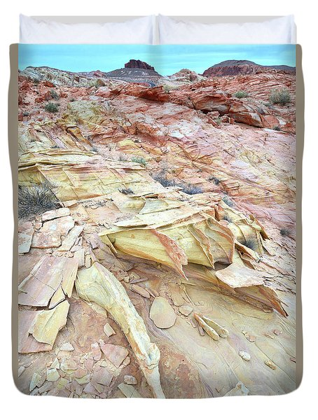 Duvet Cover featuring the photograph Valley Of Fire by Ray Mathis