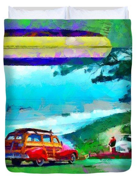 60's Surfing Duvet Cover