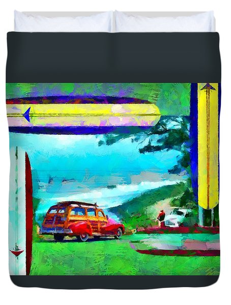 60's Surfing Duvet Cover