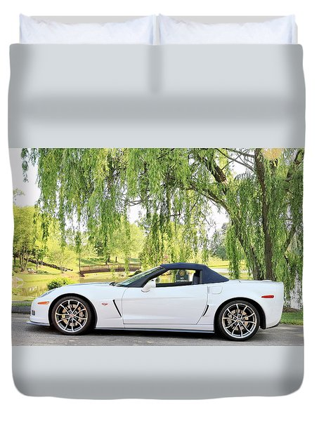 60th Anniversary 2013 Corvette 427 Duvet Cover