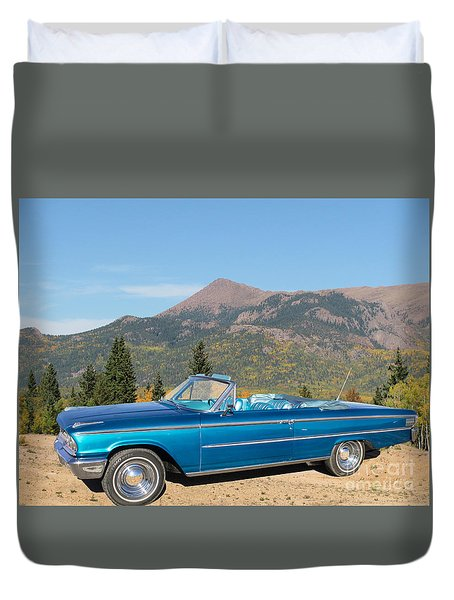 63 Ford Convertible Duvet Cover by Steven Parker