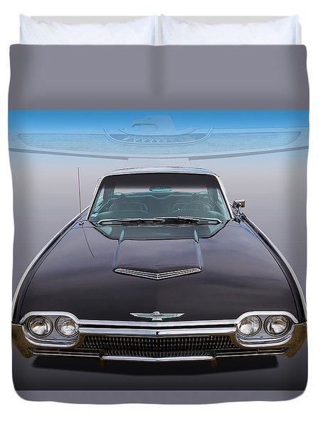 Duvet Cover featuring the photograph 63 Tbird by Keith Hawley