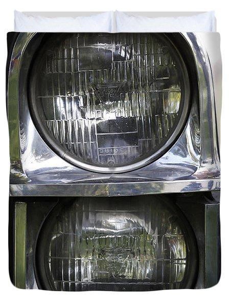 65 Caddy Headlights Duvet Cover
