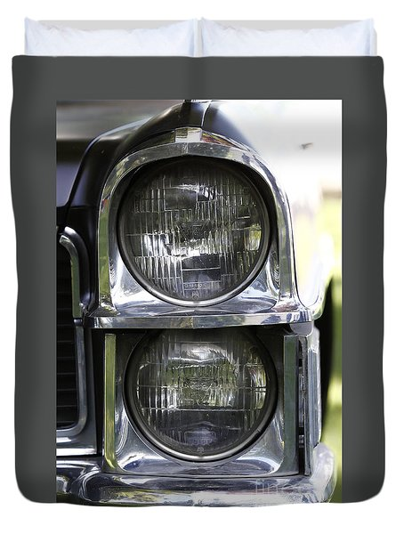 65 Caddy Headlights Duvet Cover
