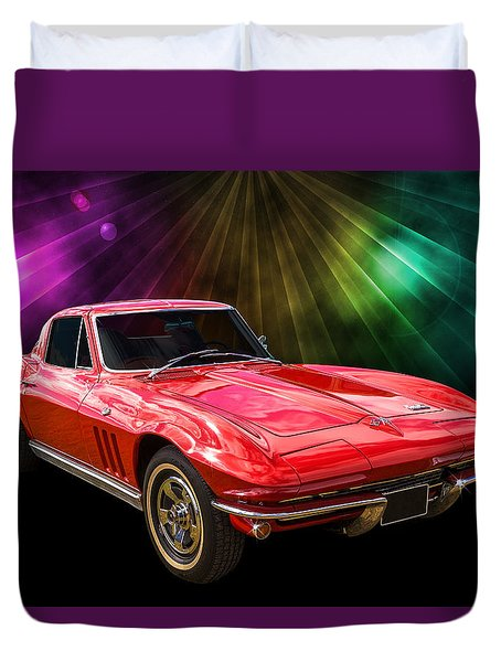 66 Corvette Duvet Cover