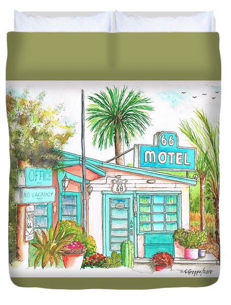 66 Motel In Needles, California Duvet Cover