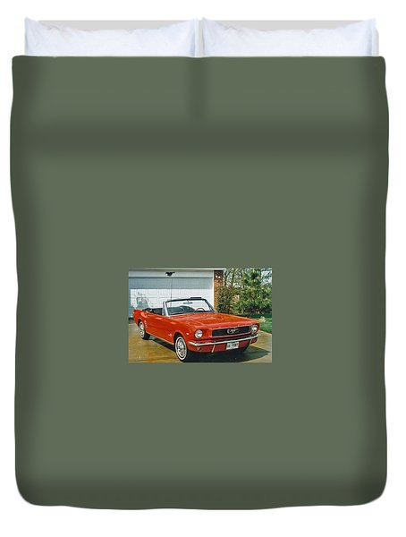 66 Mustang Convertable Duvet Cover