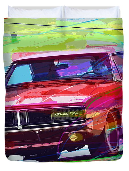 69 Dodge Charger  Duvet Cover