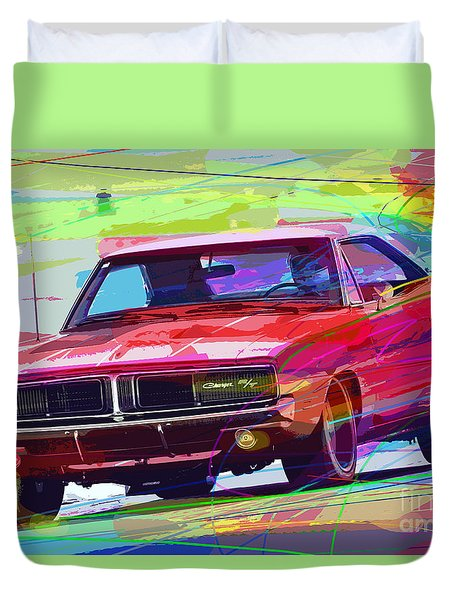 69 Dodge Charger  Duvet Cover
