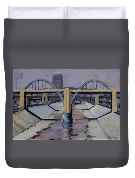 6th Street Bridge Duvet Cover