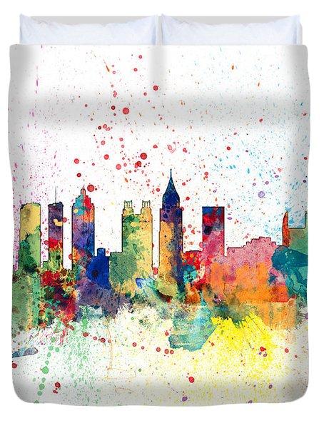 Atlanta Georgia Skyline Duvet Cover