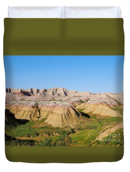 Badlands National Park South Dakota Duvet Cover by Louise Heusinkveld