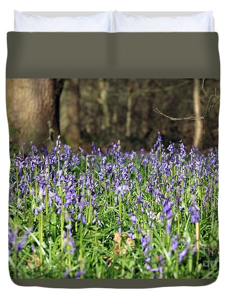 Bluebells At Banstead Wood Surrey Uk Duvet Cover