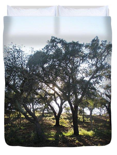 Cork Oaks Duvet Cover