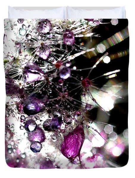 Crystal Flower Duvet Cover by Sylvie Leandre