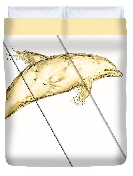 Dolphin Collection Duvet Cover by Marvin Blaine