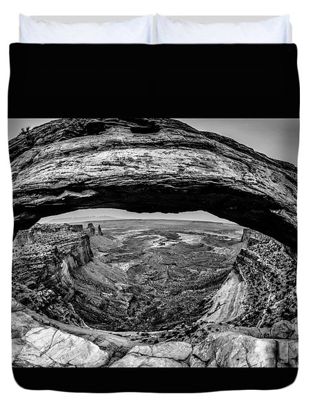 famous Mesa Arch in Canyonlands National Park Utah  USA Duvet Cover by Alex Grichenko