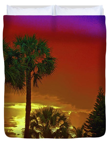 Duvet Cover featuring the digital art 7- Holiday by Joseph Keane