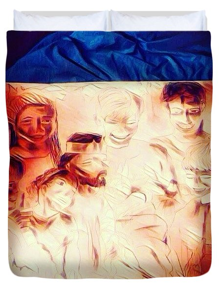 In Heaven With Jesus Duvet Cover