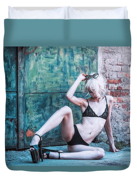 Duvet Cover featuring the photograph Kelevra by Traven Milovich